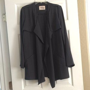 Charcoal grey sheer, flowy blazer, size large